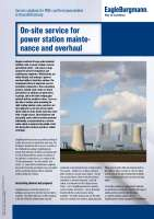 Solution: On-site service for power station maintenance and overhaul
